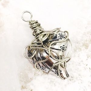 BOGO💫Wire Wrapped Tibetan Silver Heart Pendant